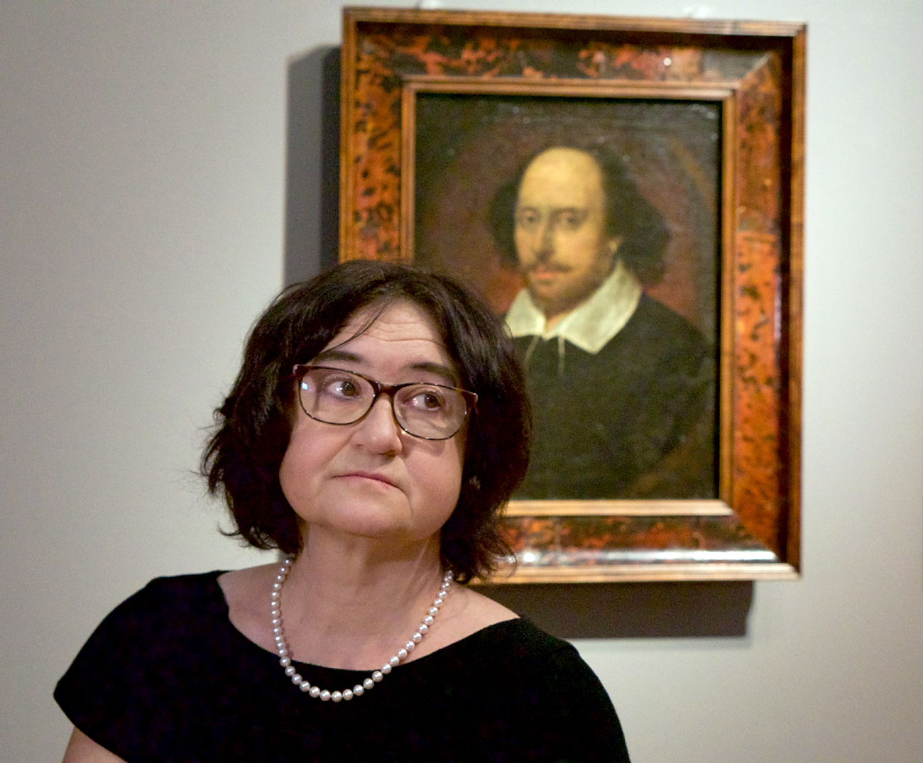 Director of the Tretyakov Gallery Zelfira Tregulova at the exhibition titled 'From Elizabeth to Victoria. English portrait from the collection of the National Portrait Gallery, London' in the Tretyakov Gallery.