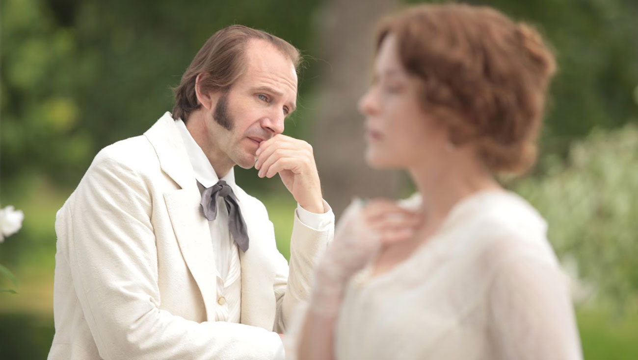 "Ralph Fiennes as Mikhail Rakitin in Vera Glagoleva's movie ""Two Women,"" based on Ivan Turgenev's play ""A Month in the Country."""