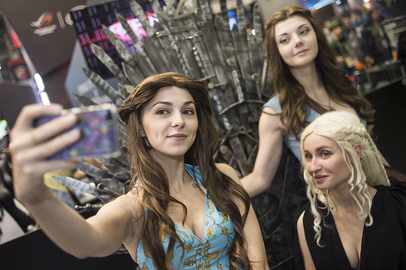 "Game of Thrones characters cosplayers at the third annual Comic Con Russia festival and interactive ativities exhibition ""IgroMir 2016"" in Crocus Expo exhibition centre in Moscow."