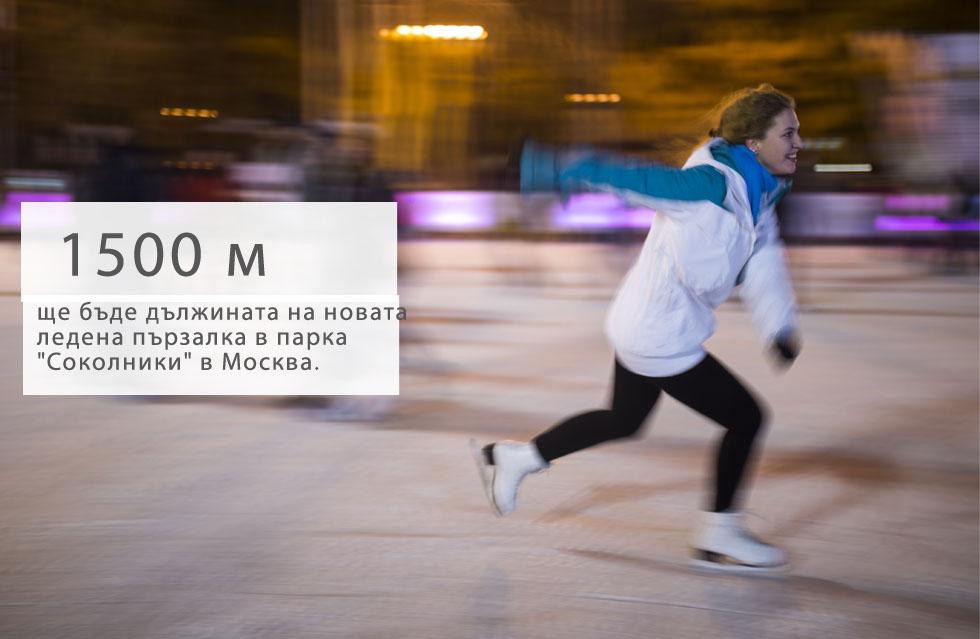 """Като част от подготовките на Москва за зимата, в гората на парка """"Соколники"""" в североизточната част на града ще бъде построена нова ледена пързалка. Разположеното близо до Златното езеро съоръжение ще бъде дълго 1,5 км. Пързалката ще бъде разположена близо до чайна, където кънкьорите могат да се отпуснат, затоплят и да похапнат."""