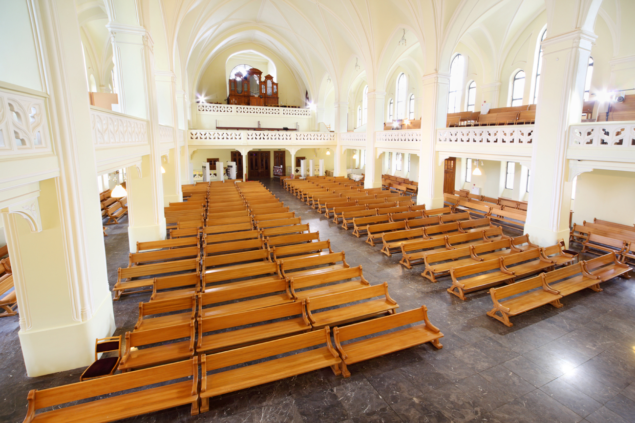 Hall and organ in Evangelical Lutheran Cathedral of St Peter and Paul Lutheran Cathedral. Source: Shutterstock/Legion Media