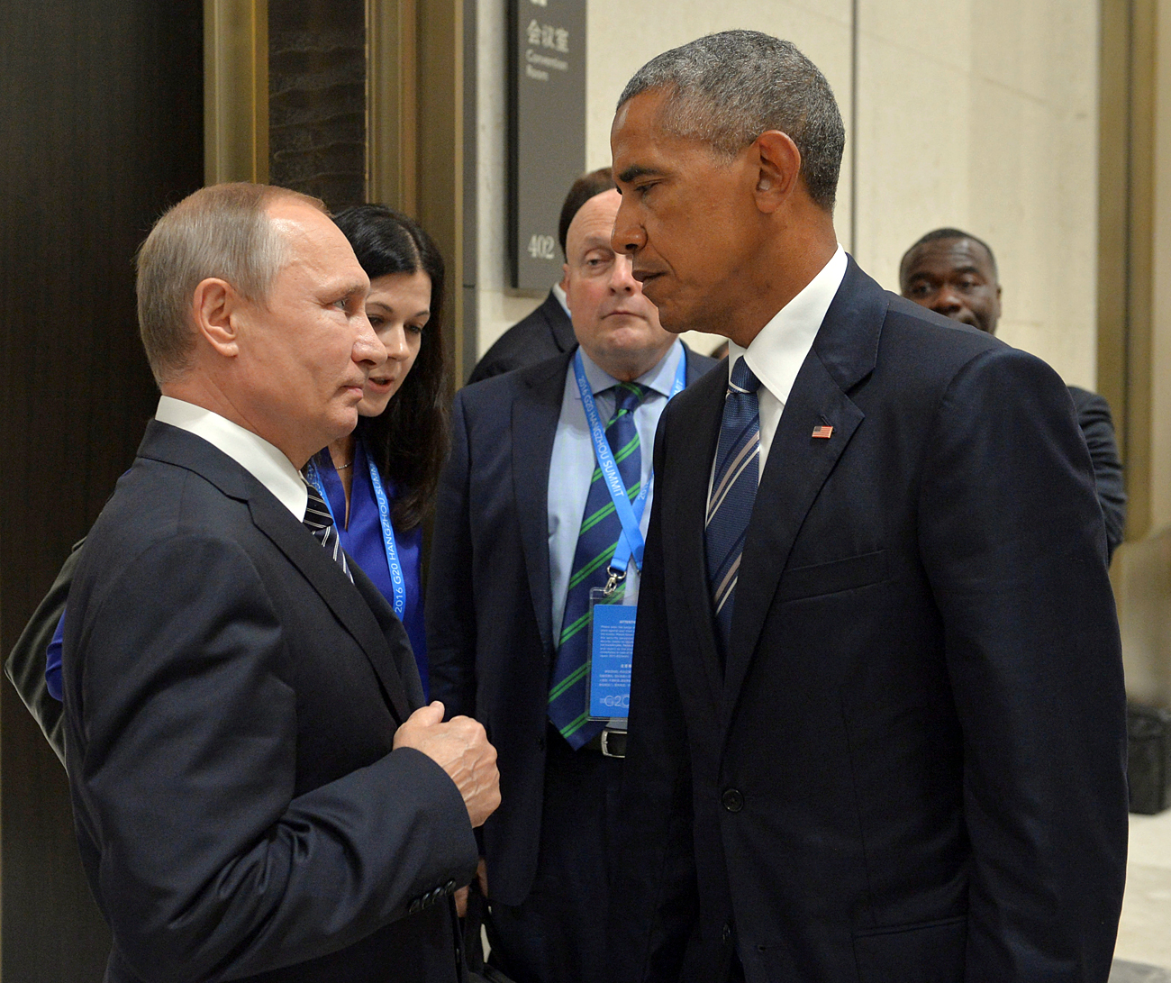 Lack of trust between the Russians and the Americans is a fundamental obstacle to reaching an understanding that could resolve the Syrian conflict. Photo: Russian President Vladimir Putin meets with U.S. President Barack Obama on the sidelines of the G20 Summit in Hangzhou, China, on Spet. 5, 2016.