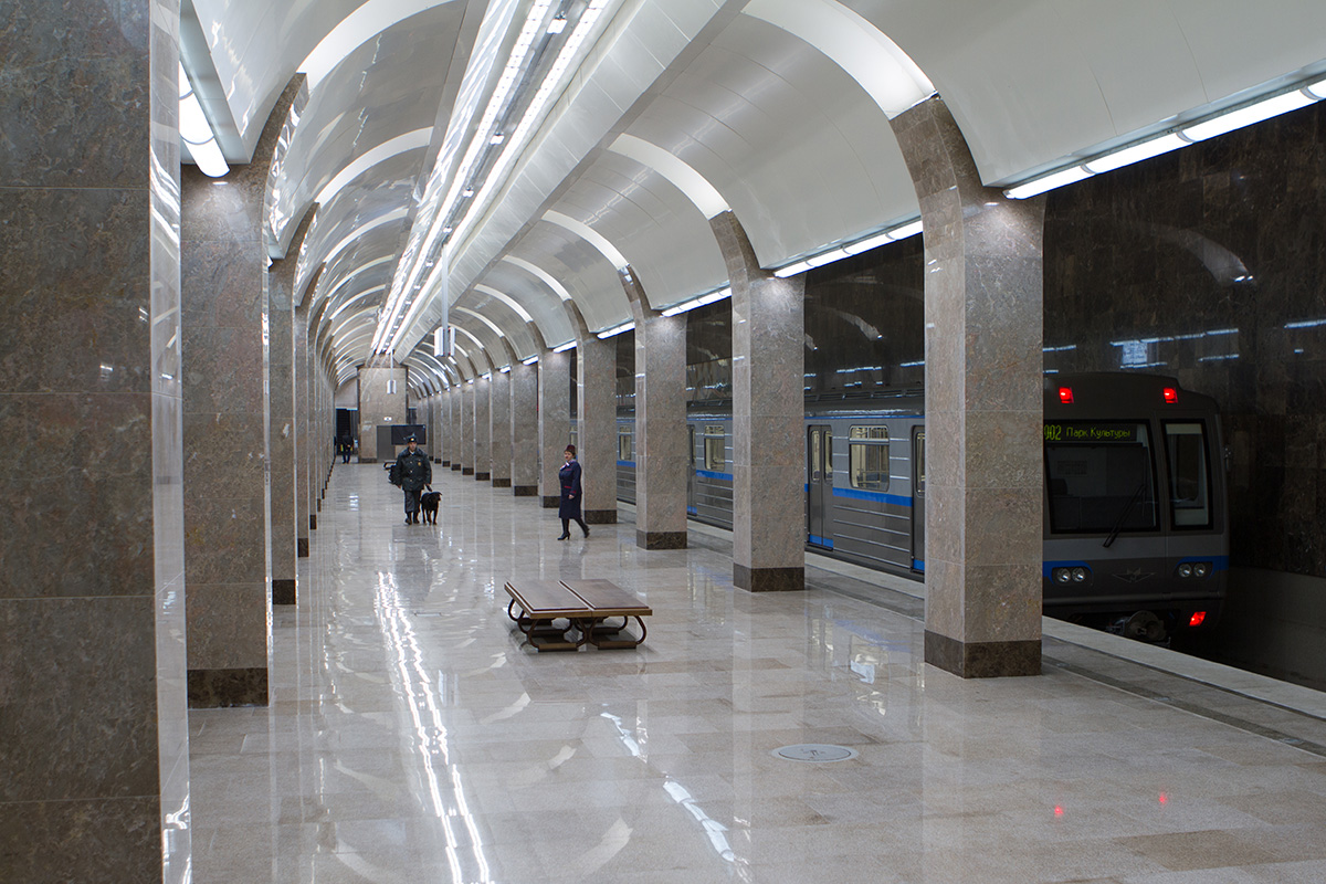 The shallowest metro is situated in Nizhny Novgorod. It was the third metro to be constructed in Russia. It has two lines and 14 stations.