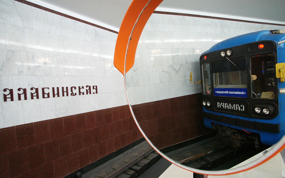 O metrô de Samara é ainda menor: são só 10 km de extensão e 10 estações.