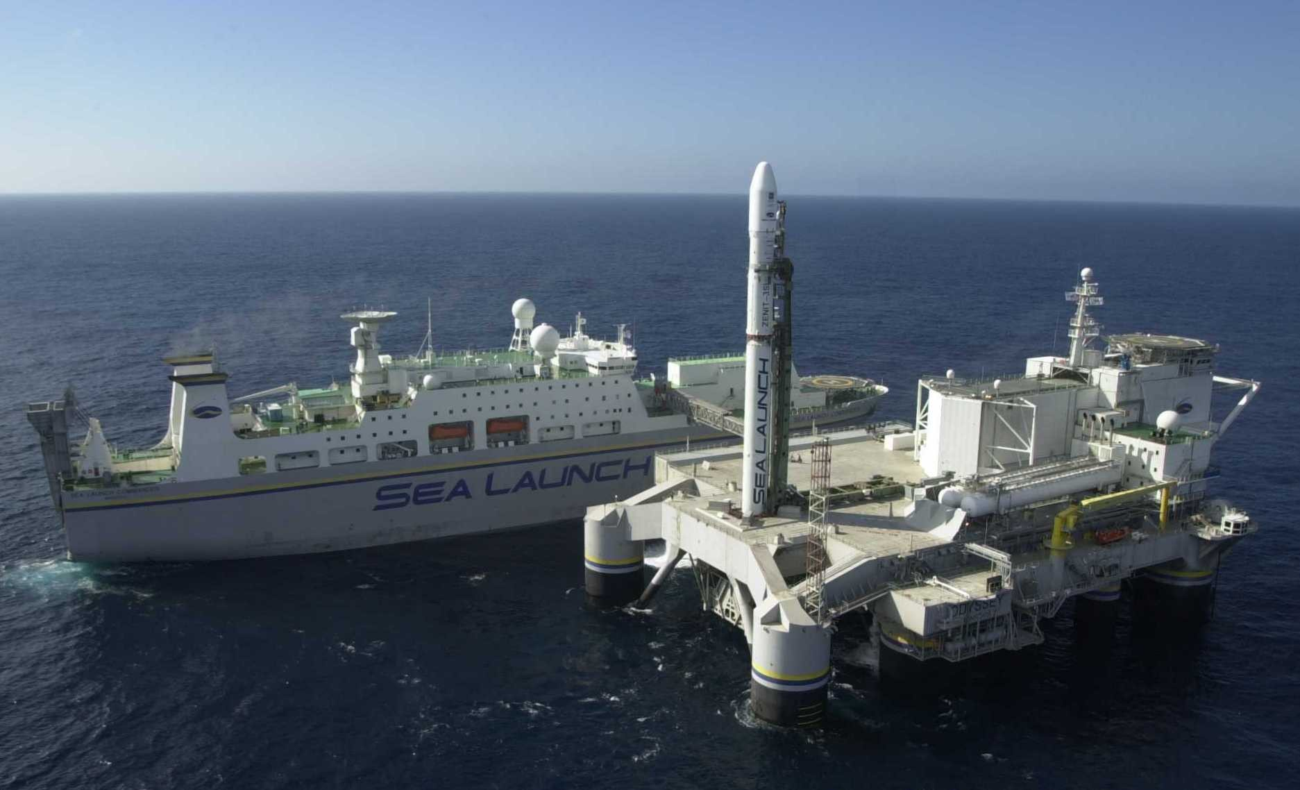 The floating 'Sea Launch' spaceport based in California, U.S.