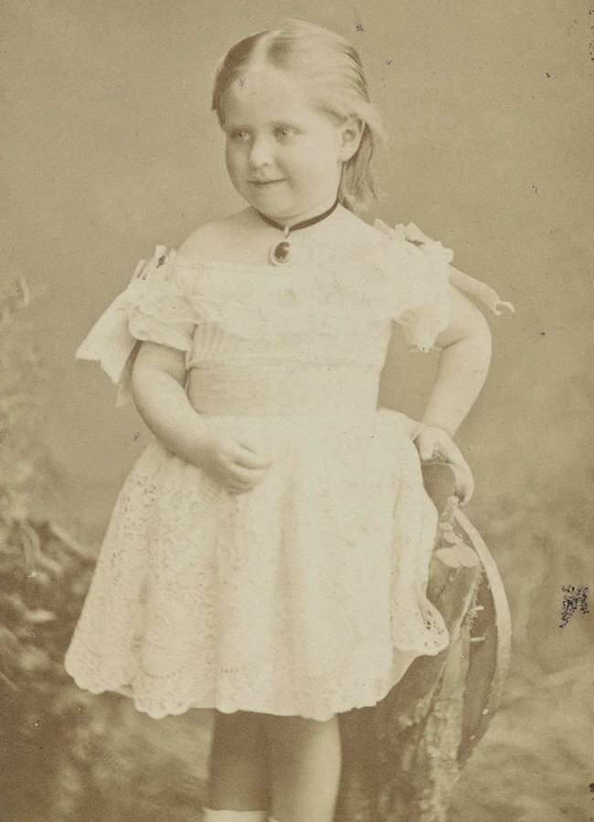 Alexandra Fyodorovna, the future wife of Emperor Nicholas II, at the age of 3.