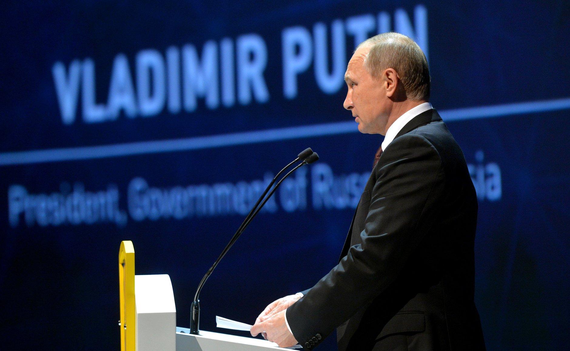 Russian President Vladimir Putin at the World Energy Congress.