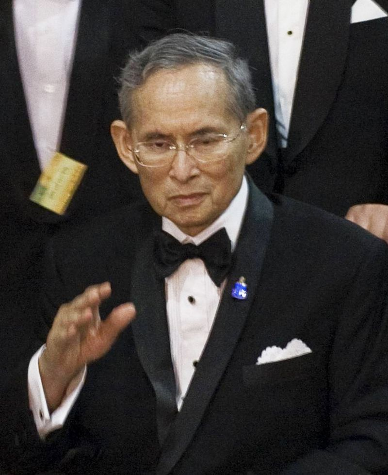 King Bhumibol Adulyadej died in a hospital in Bangkok.