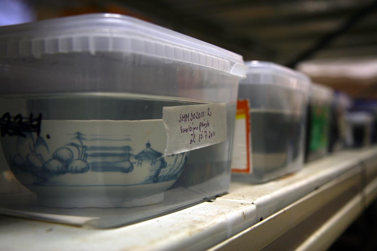 "Alcuni resti recuperati dal ""Frau Maria"". Fonte: AFP / East News"