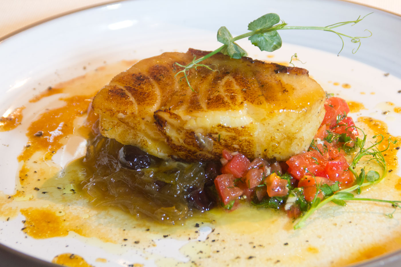 Moscow catch: Zander fillet in Miso sause