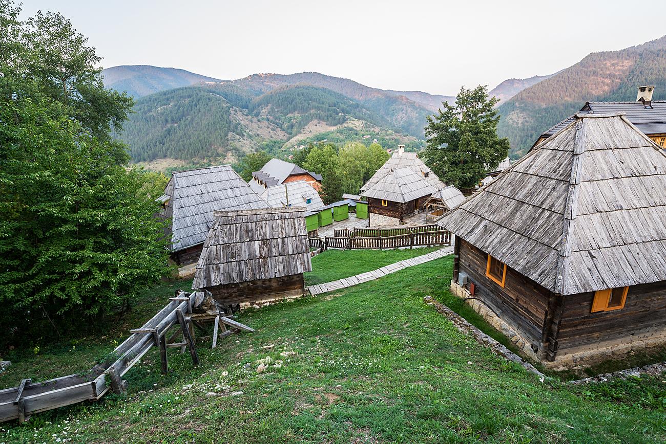 Drvengrad built by Emir Kusturica in Serbia.