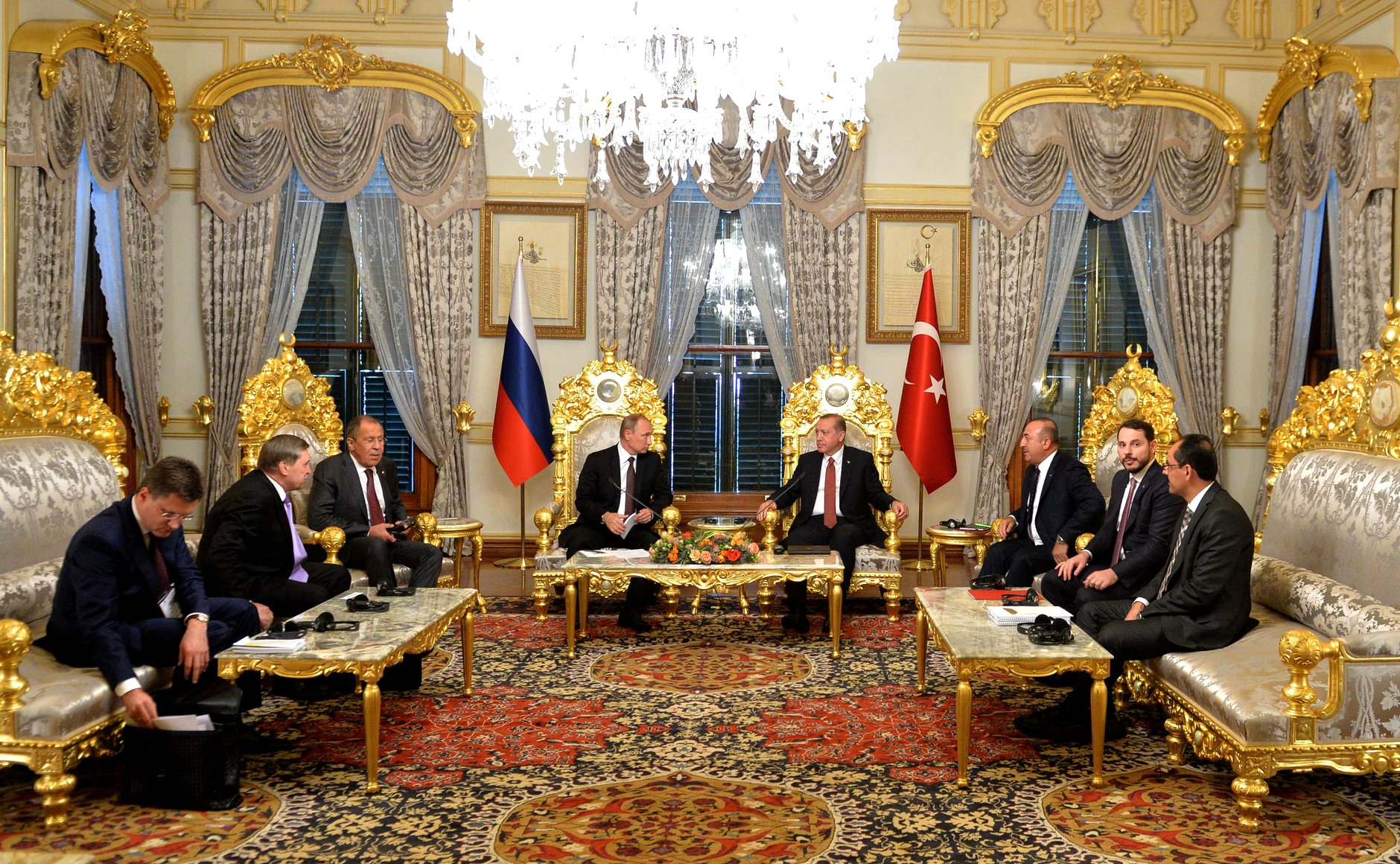 Russian President Vladimir Putin met with Turkish President Recep Tayyip Erdogan on Oct. 10 within the framework of the World Energy Congress in Istanbul.