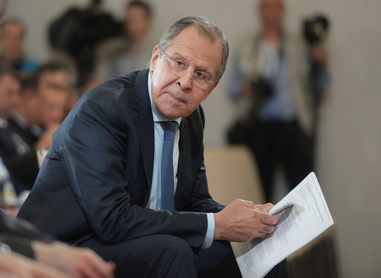 "Sergei Lavrov: ""We hope that relations between Russia and the U.S., which are currently not at their best, will be mended and become normal, which meets the interests of our peoples and the entire international community."""