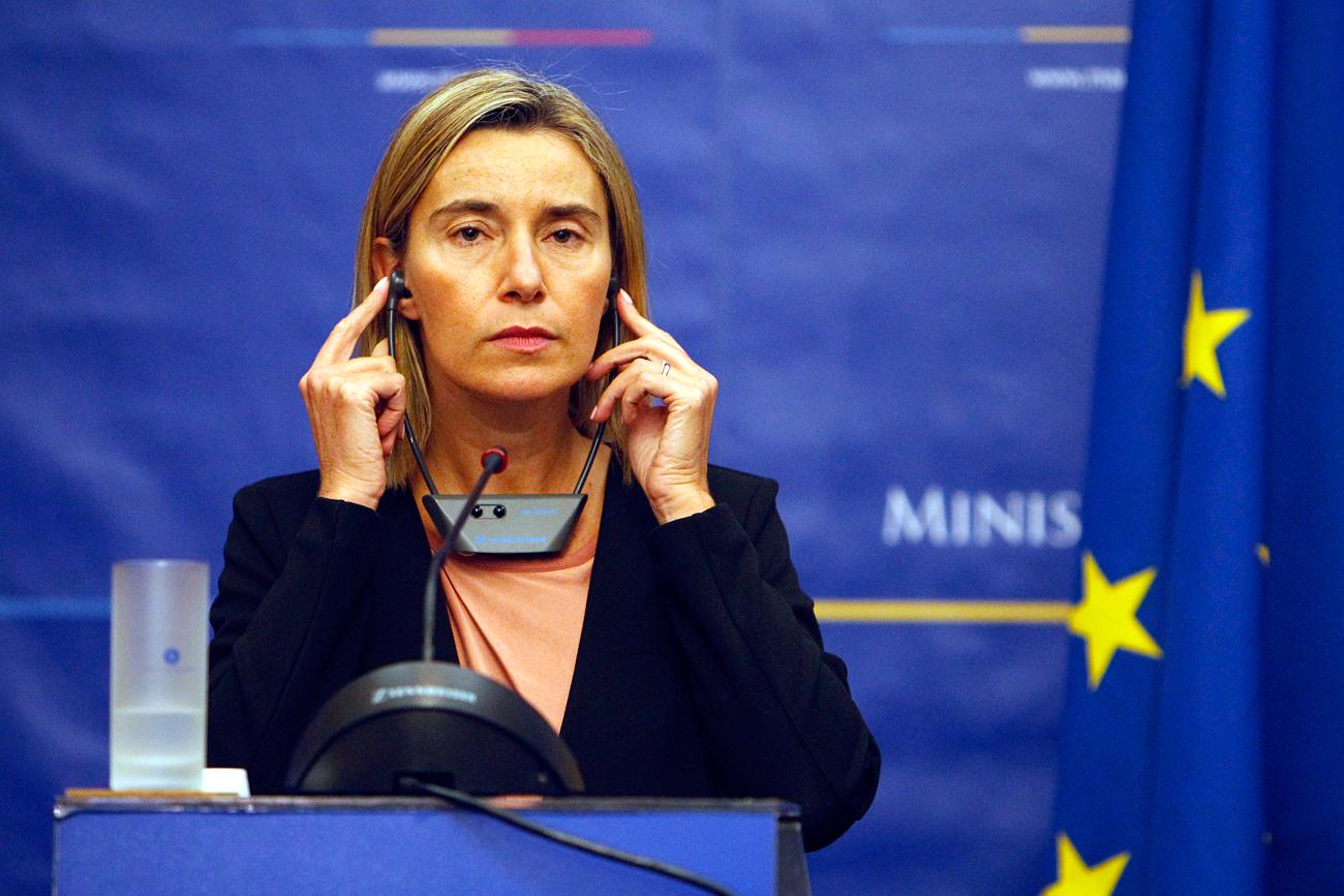Federica Mogherini, alta representante de la Unión Europea para Asuntos Exteriores.