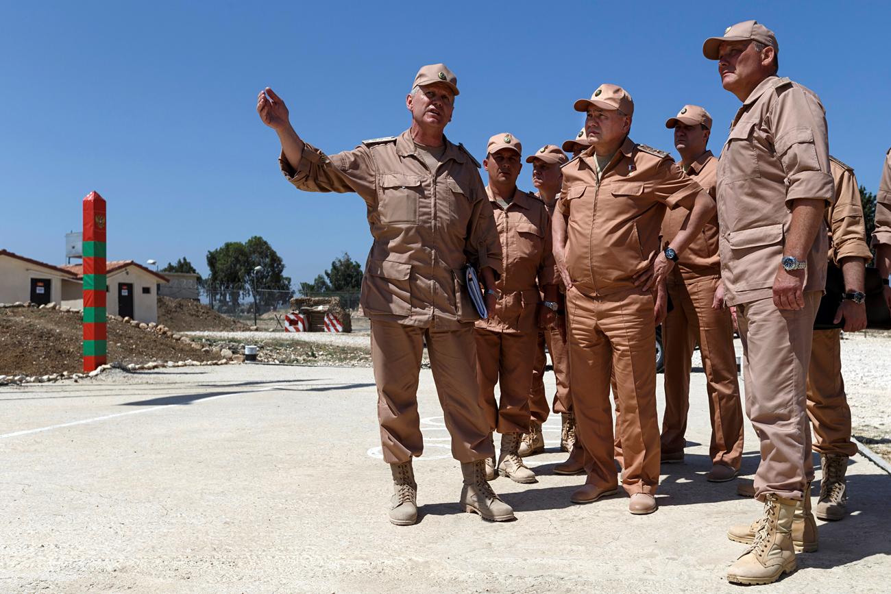 Russian Defense Minister Sergei Shoigu visits Khmeymim air base in Syria, June 18, 2016.