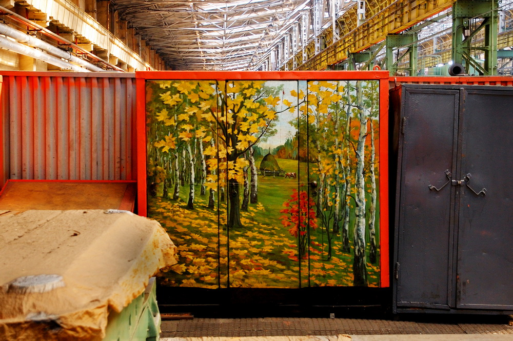 A few years ago some of the works appeared online. They caught the eye of a group of Yekaterinburg curators of contemporary art, who turned Vlasov's containers into a special project at the city's Biennale.