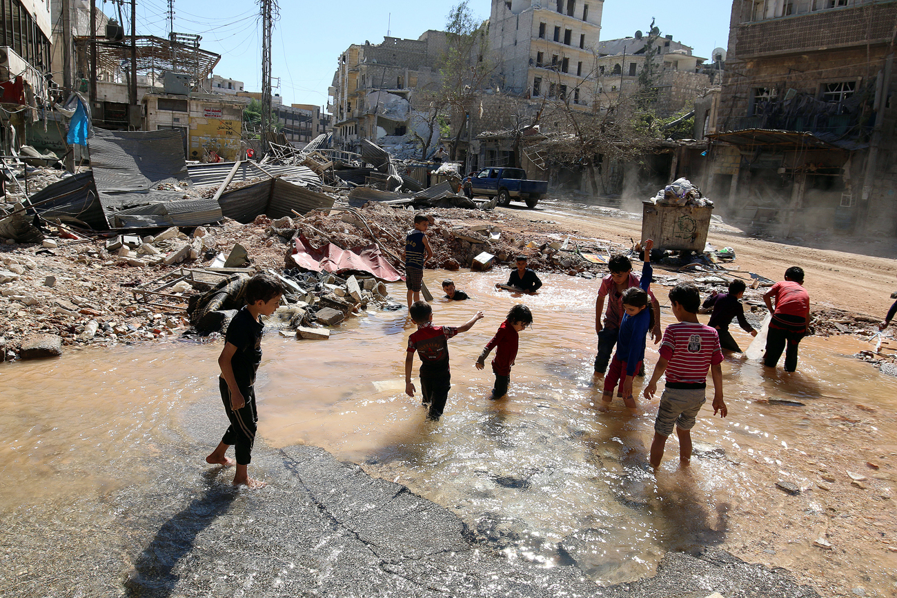 Humanitarian pauses were imposed in Aleppo during three days starting from Oct. 20.