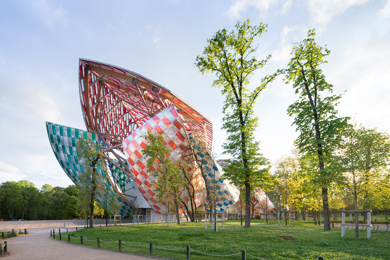 La Fondation Louis Vuitton à Paris.
