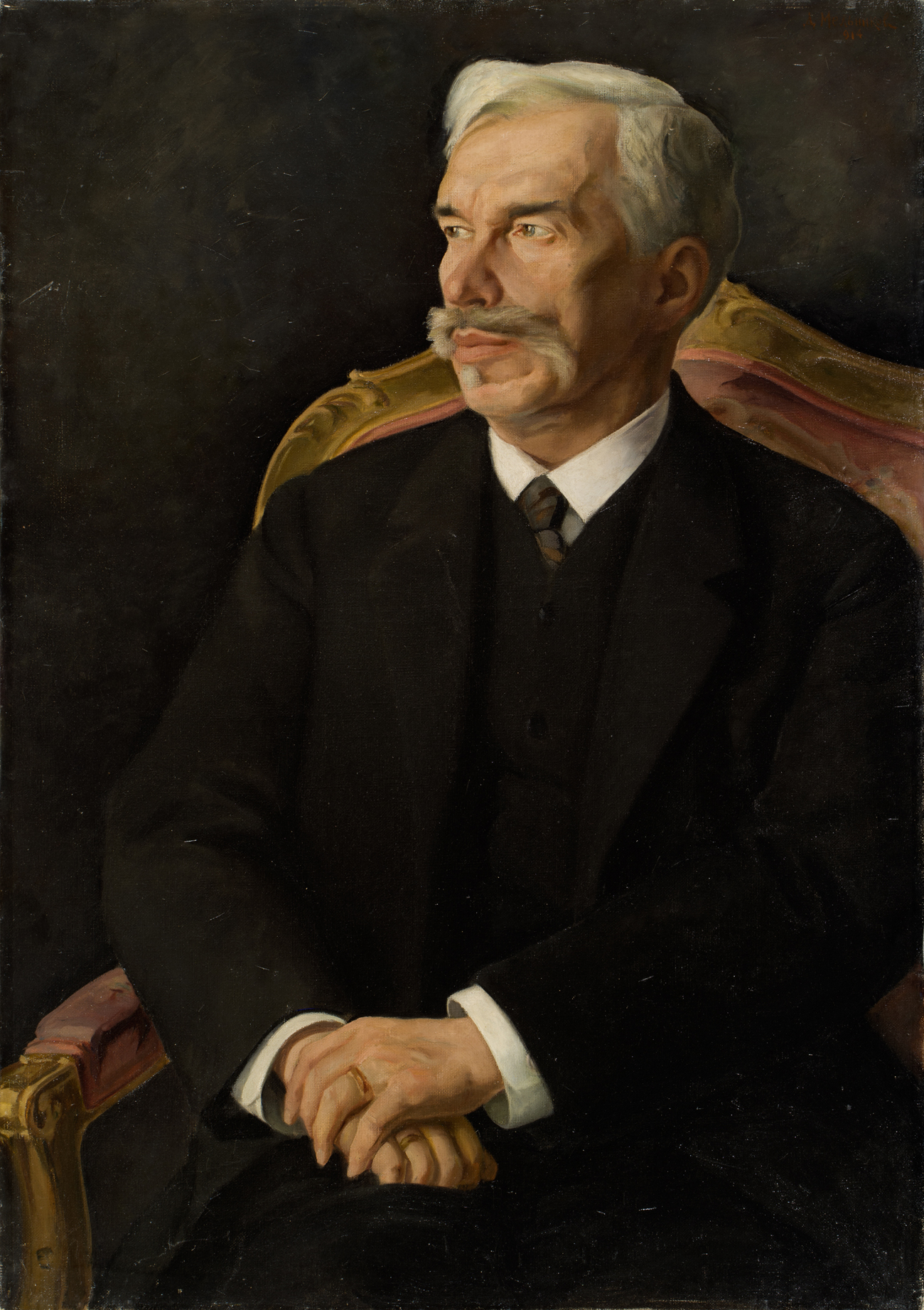 A portrait of Sergei Shchukin by Dmitry Melnikov. 1914