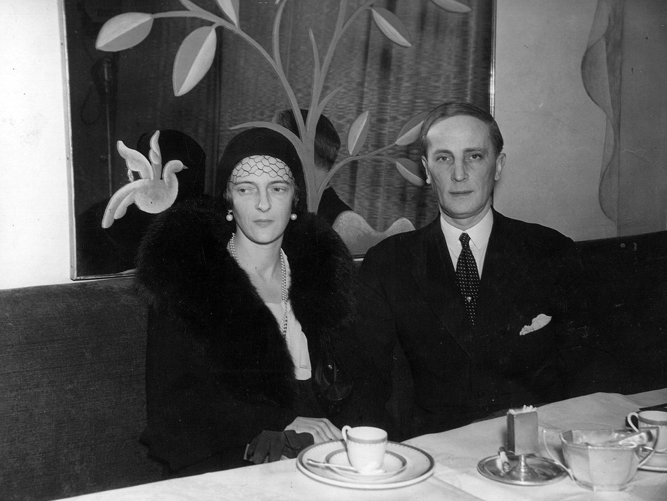Le prince russe Félix Youssoupoff (1887–1967) et son épouse, la princesse Irina de Russie (1895–1970).
