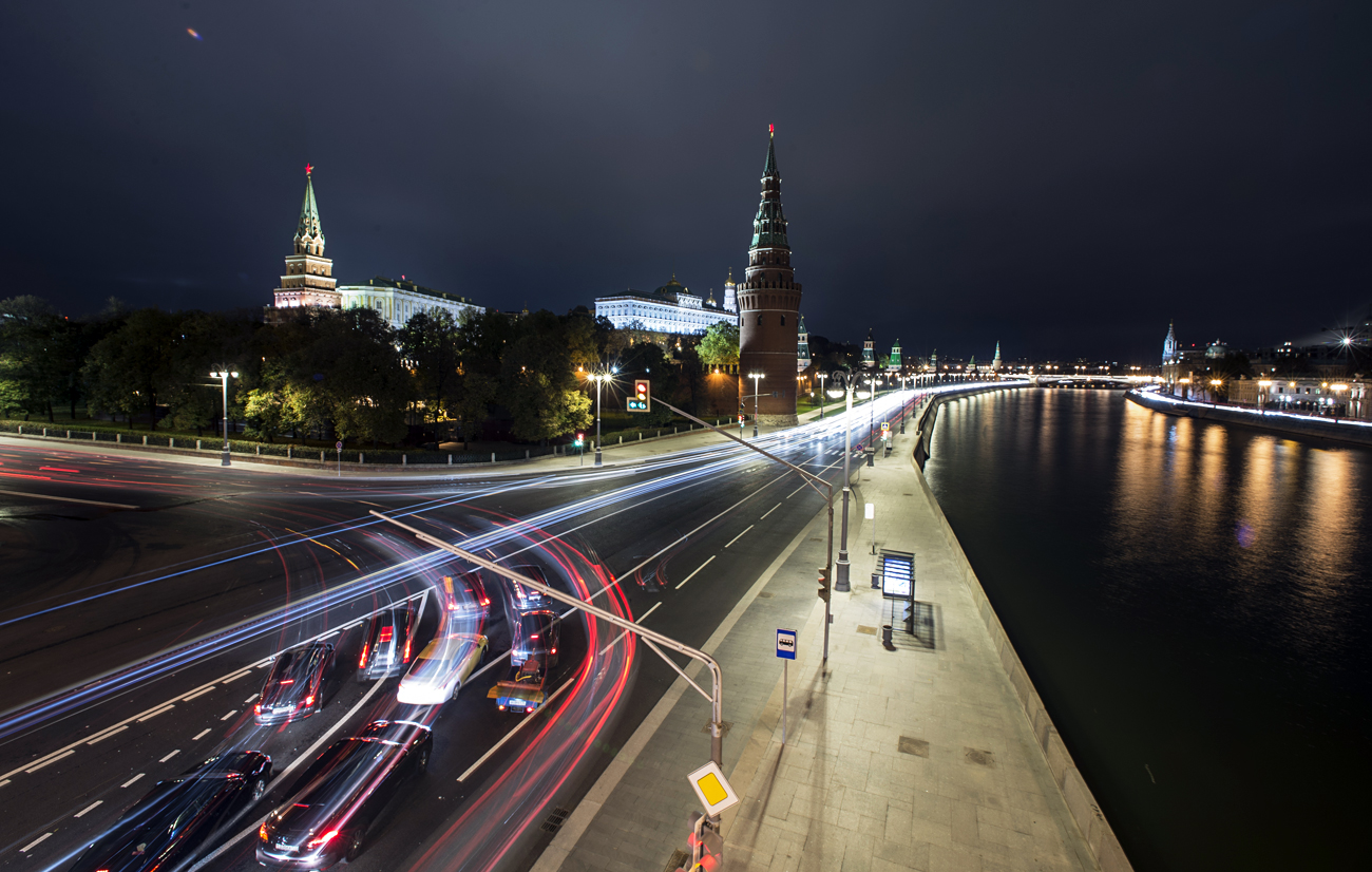 The Moscow Kremlin and the Kremlin Embankment.
