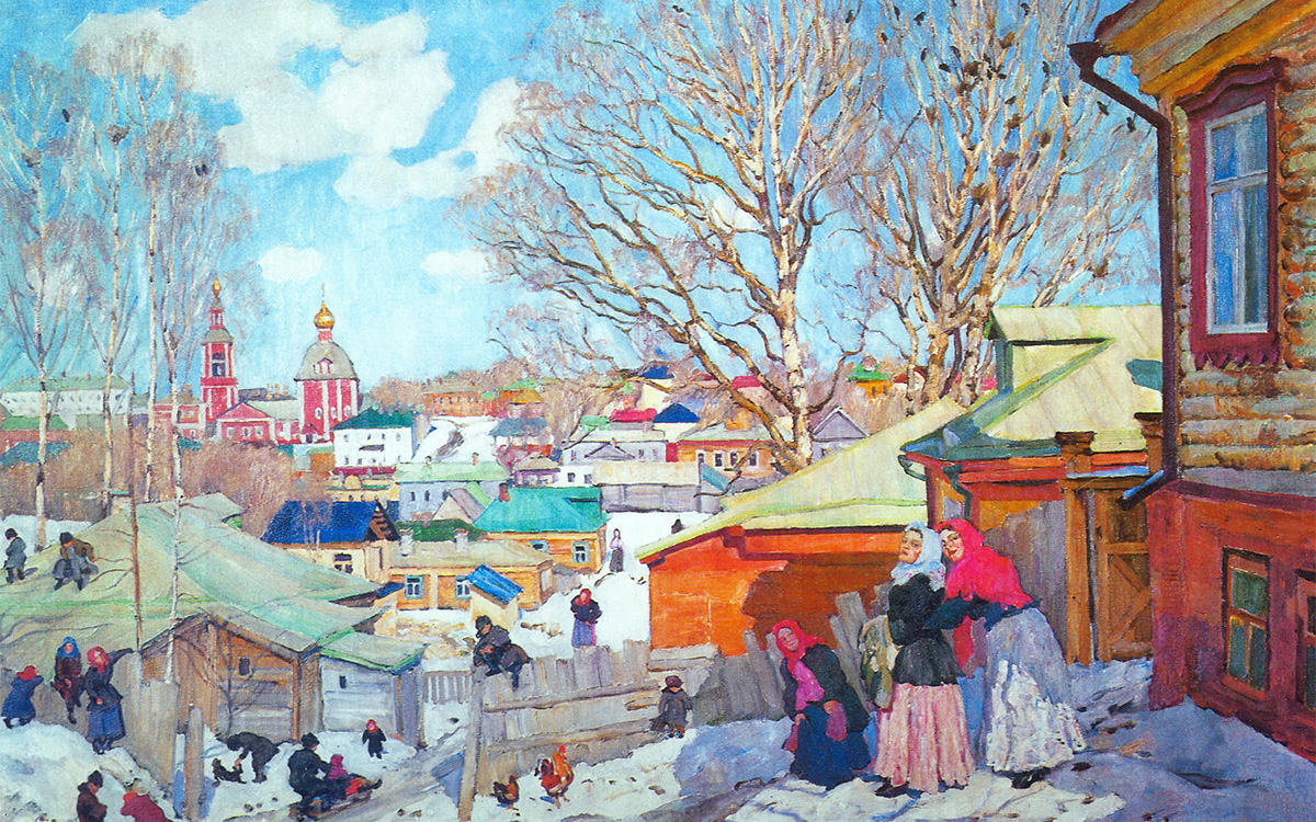 Spring sunny day, 1910.