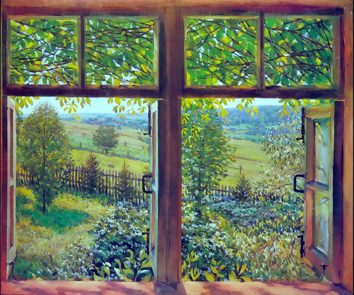 Open window. Ligachevo, 1947.