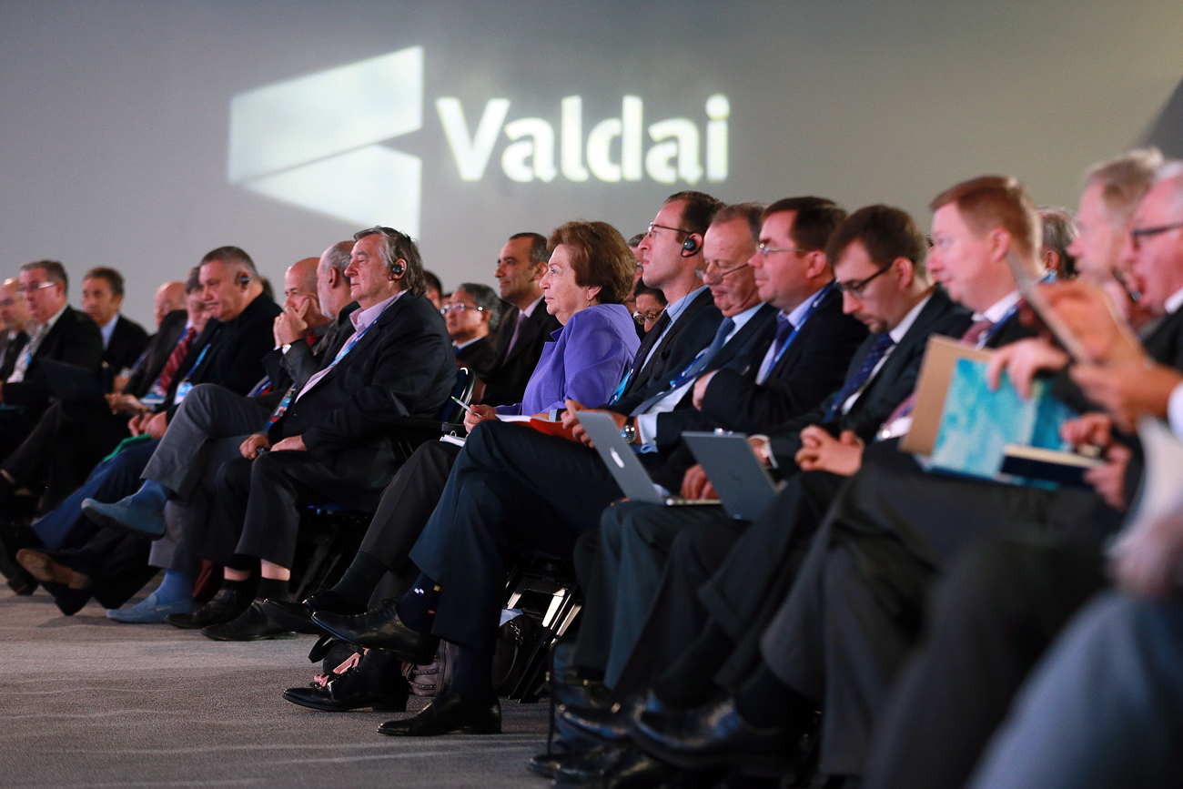 Participants at the opening of the 13th annual meeting of the International Valdai Discussion Club in Sochi.