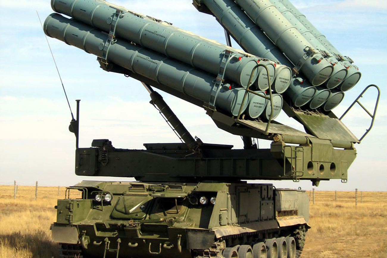 The Buk-M3 anti-aircraft missile system.