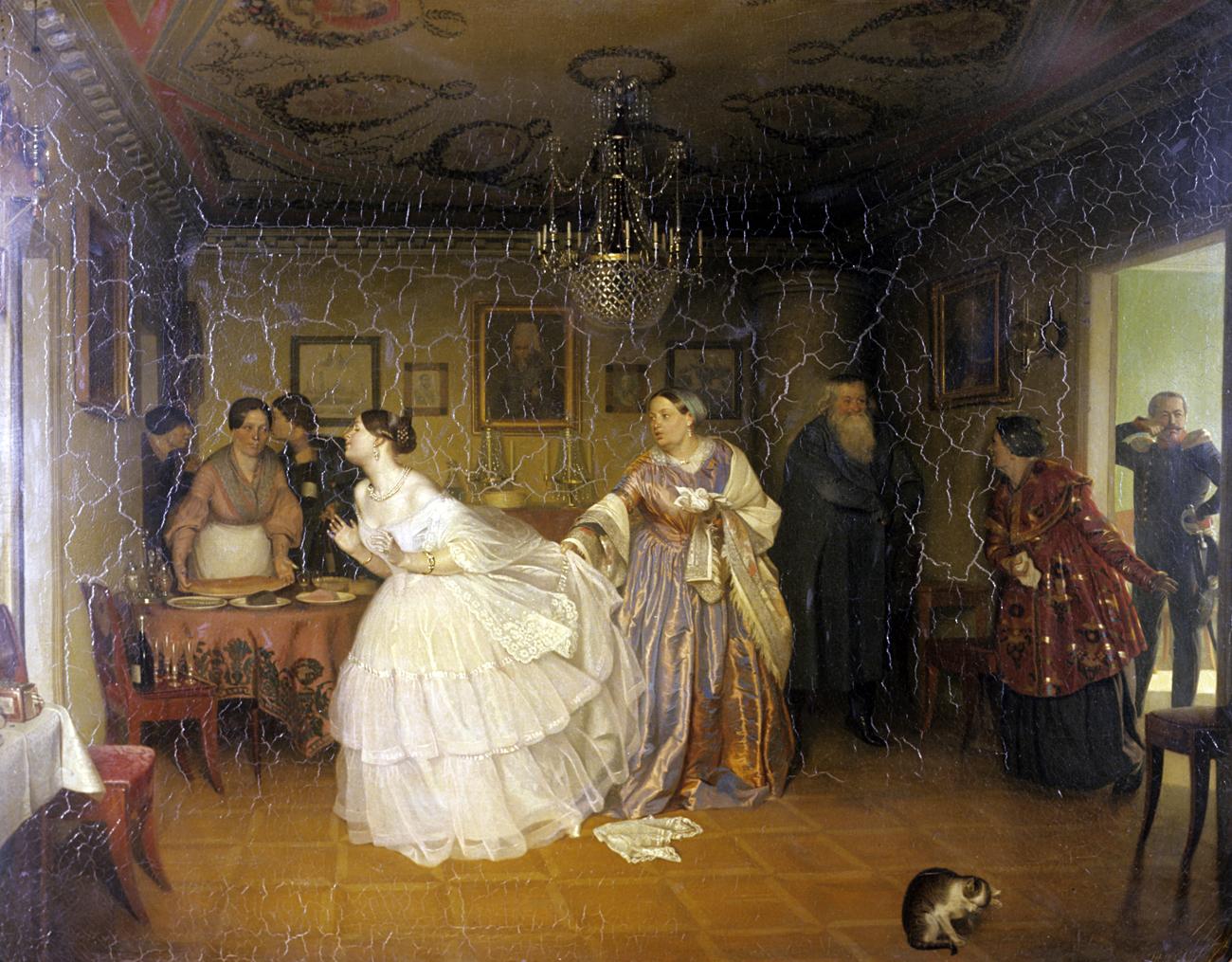 Proposta di matrimonio del Maggiore. 1848, Pavel Fedotov. Fonte: Balabanov/RIA Novosti