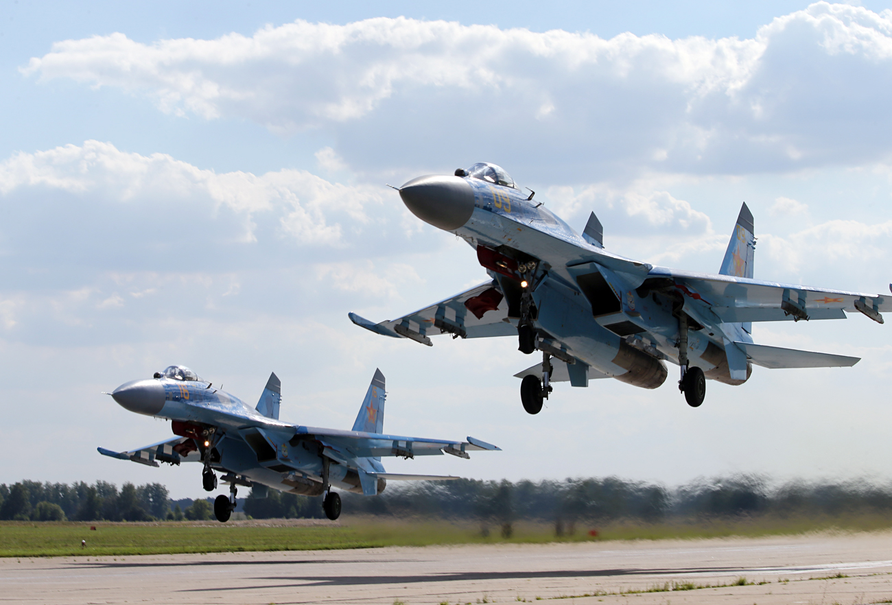About 100 aircraft and more than 9,000 troops took part in the drills.