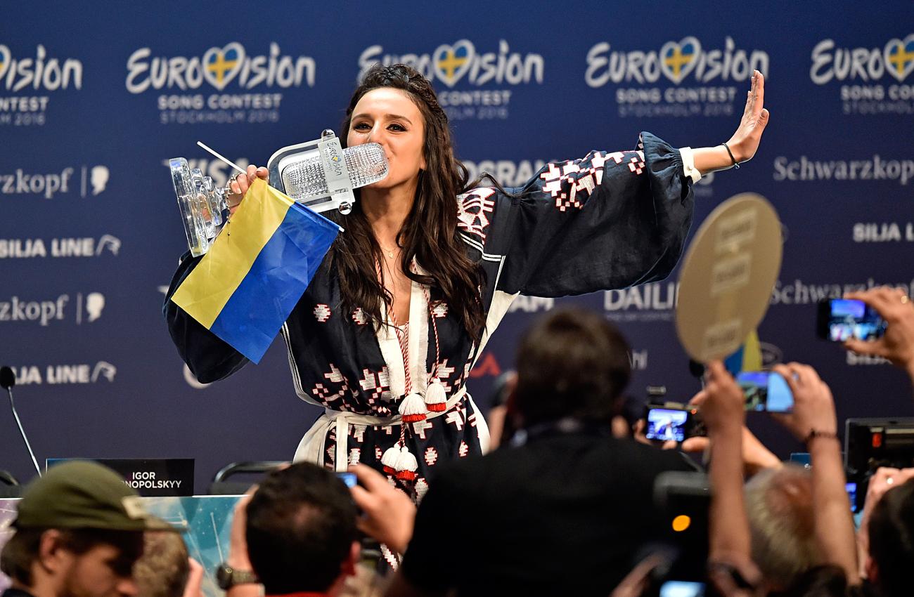"""Победителката в миналогодишната """"Евровизия"""" Джамала от Украйна."""