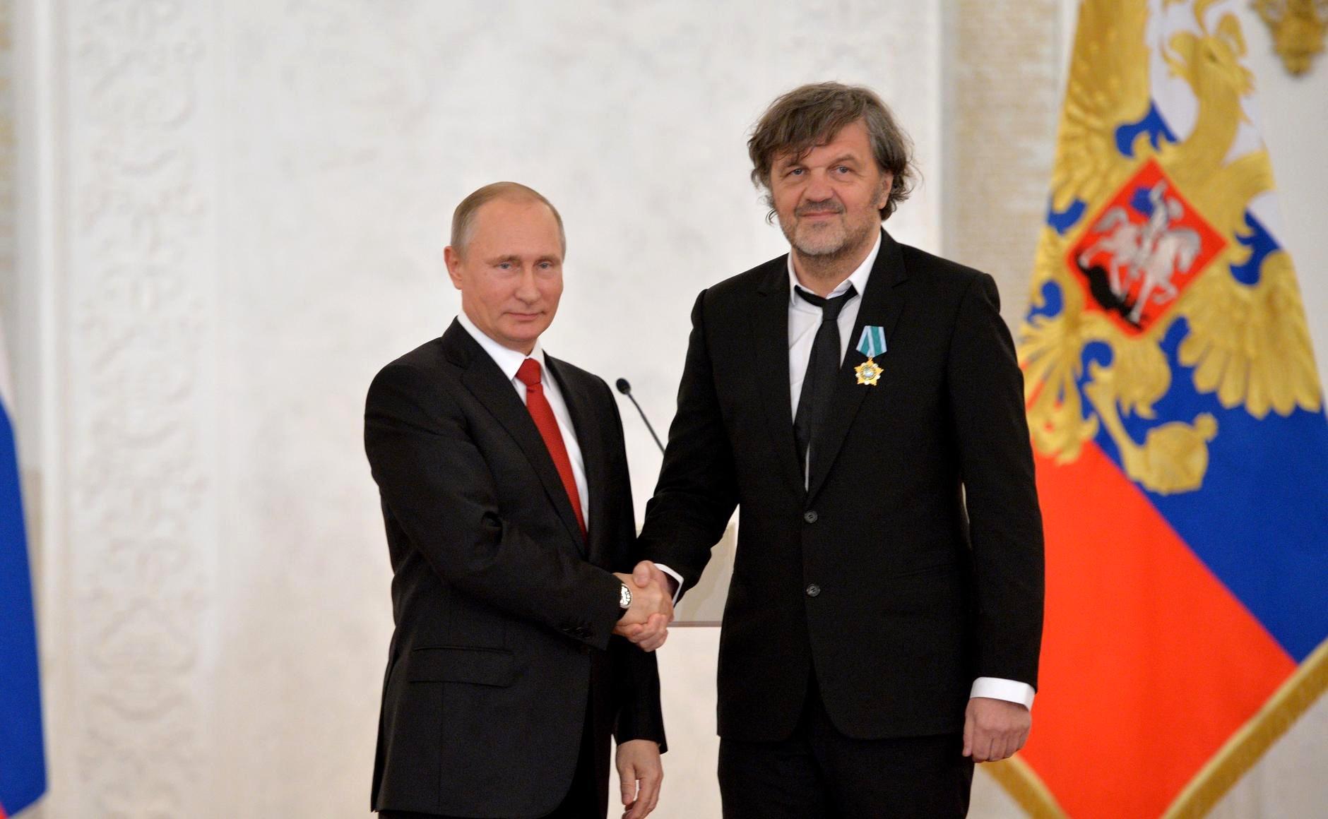 Владимир Путин и Емир Кустурица