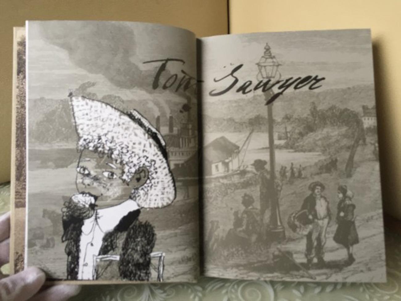 """""""Le avventure di Tom Sawyer"""" illustrate da Sergej Lubaev. Fonte: ufficio stampa"""