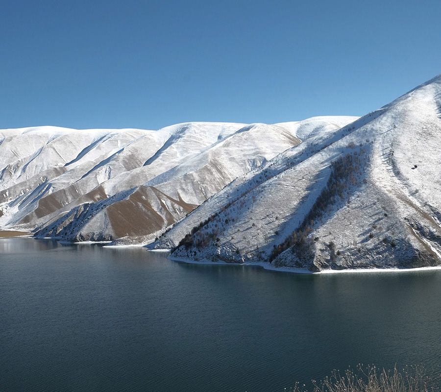 Kezenoi-Am is the largest alpine lake in the North Caucasus (pictured). It is located 1869 meters above sea level; the water here stays cold all year round.