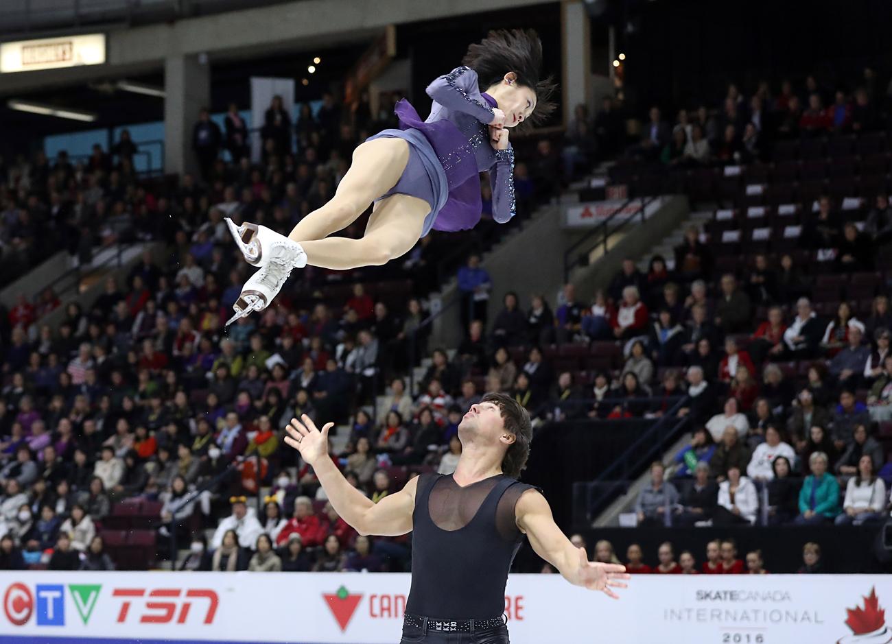 Yuko Kawaguchi et Alexander Smirnov. Crédit : Getty Images