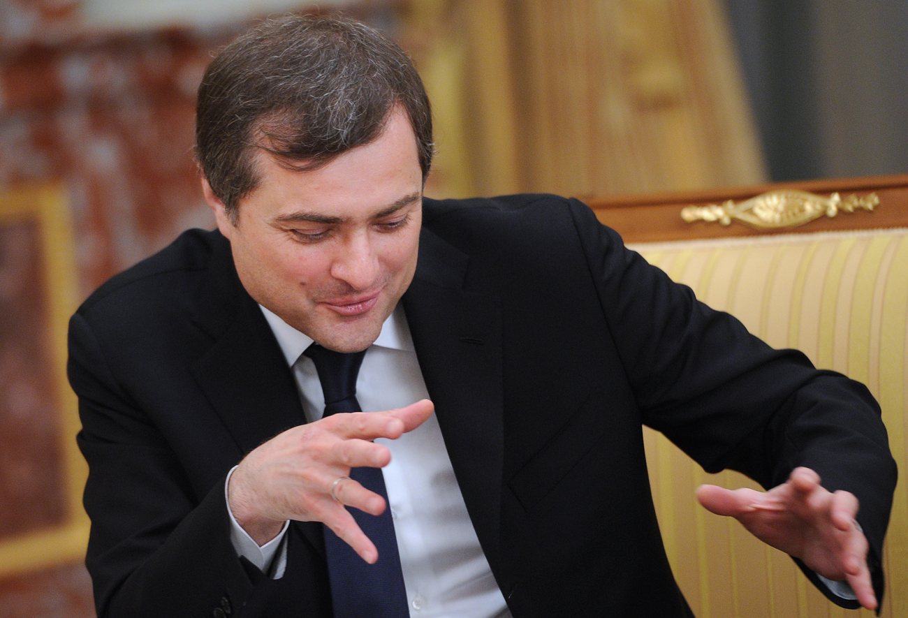 Government chief of staff Vladislav Surkov at a meeting of newly appointed government ministers in Moscow, Russia. on May 21, 2012.