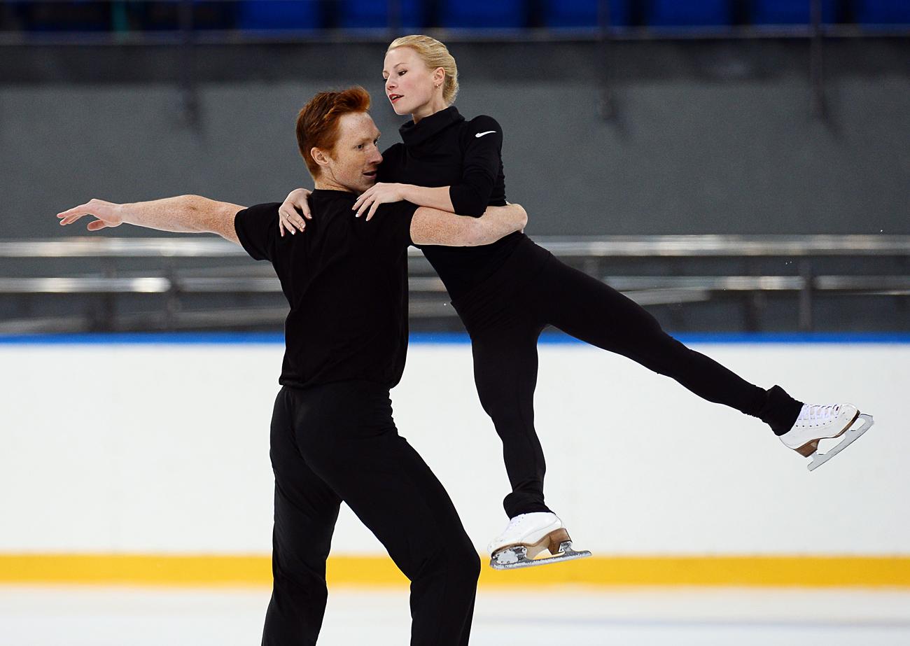 Evgenia Tarasova et Vladimir Morozov. Crédit : Nina Zotina / RIA Novosti