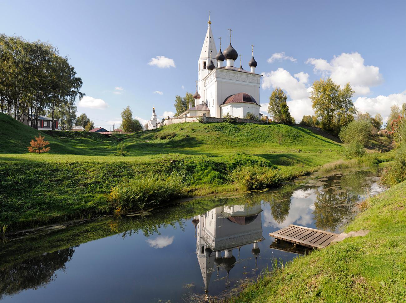 Vista sul villaggio di Vyatskoe.