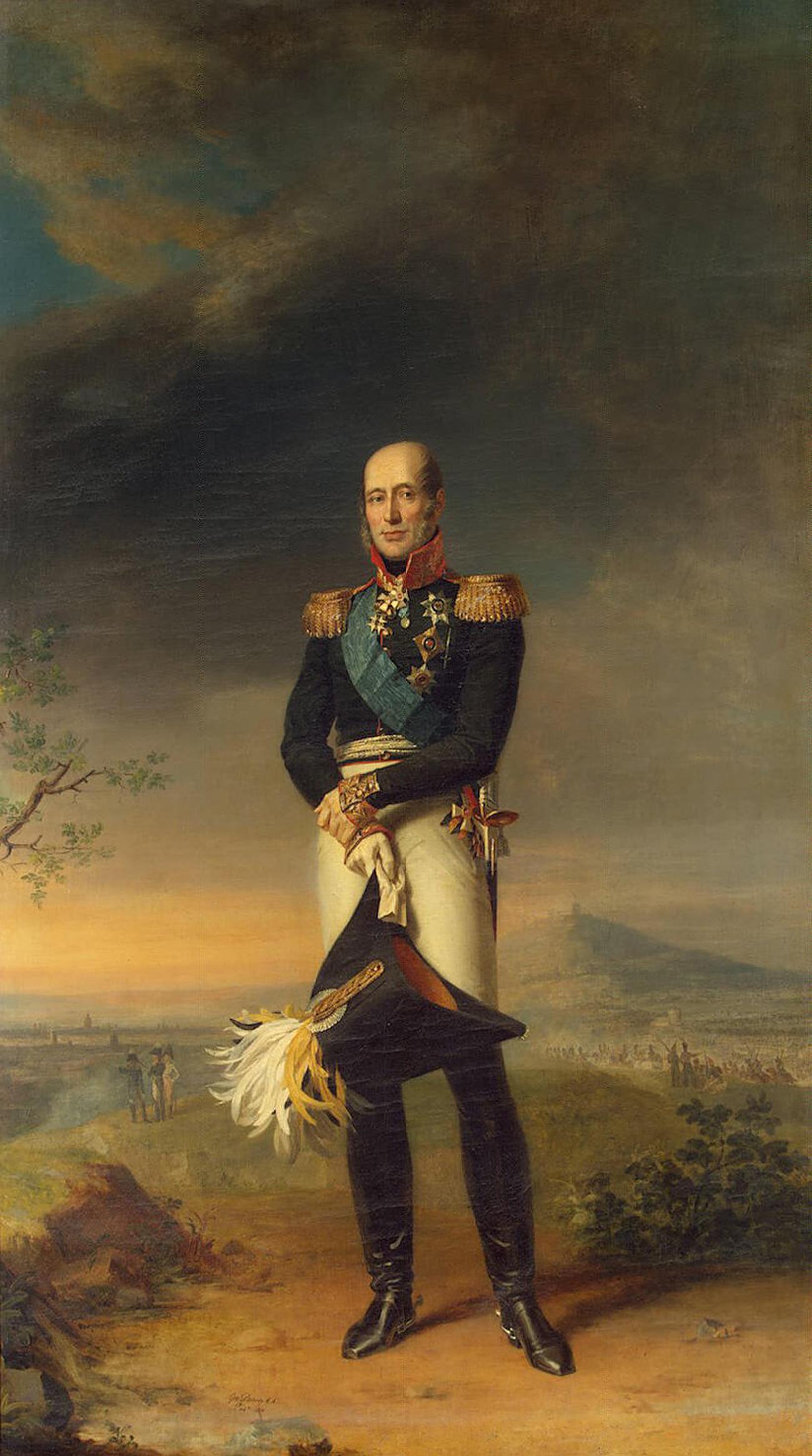 Portrait du comte Michel Barclay de Tolly par George Dawe, musée de l'Ermitage, Saint-Pétersbourg.