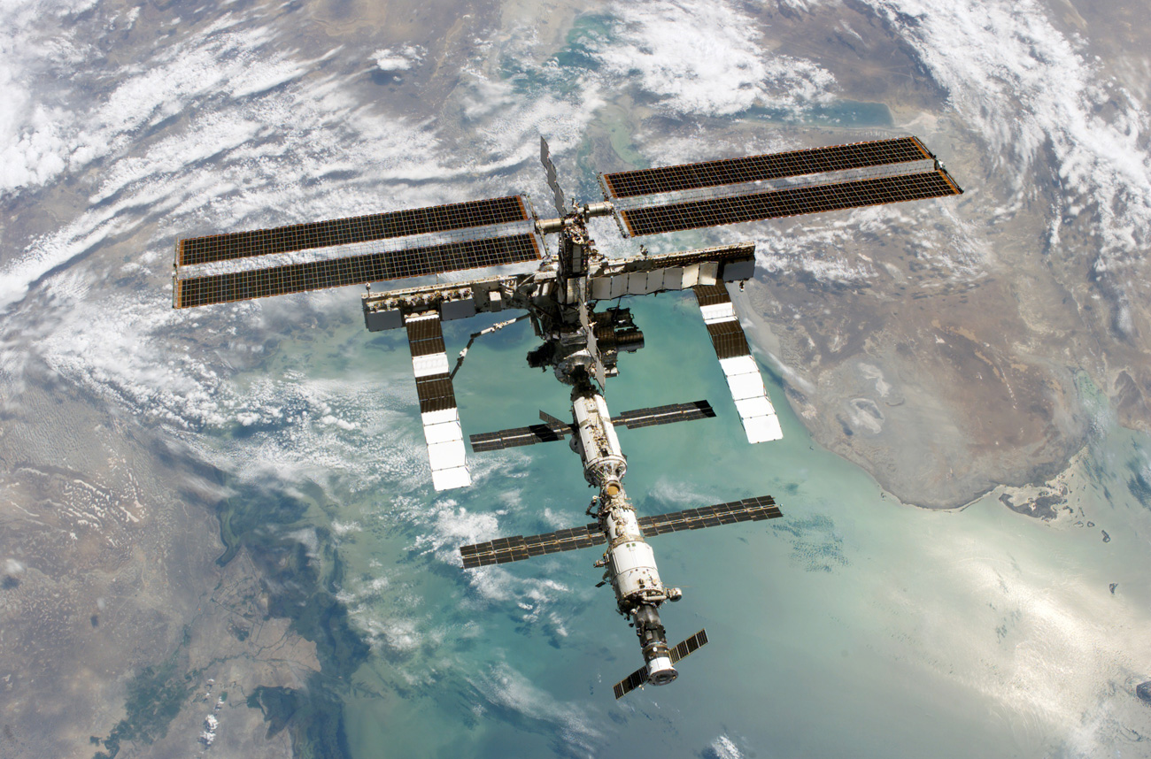 La station spatiale internationale (ISS).