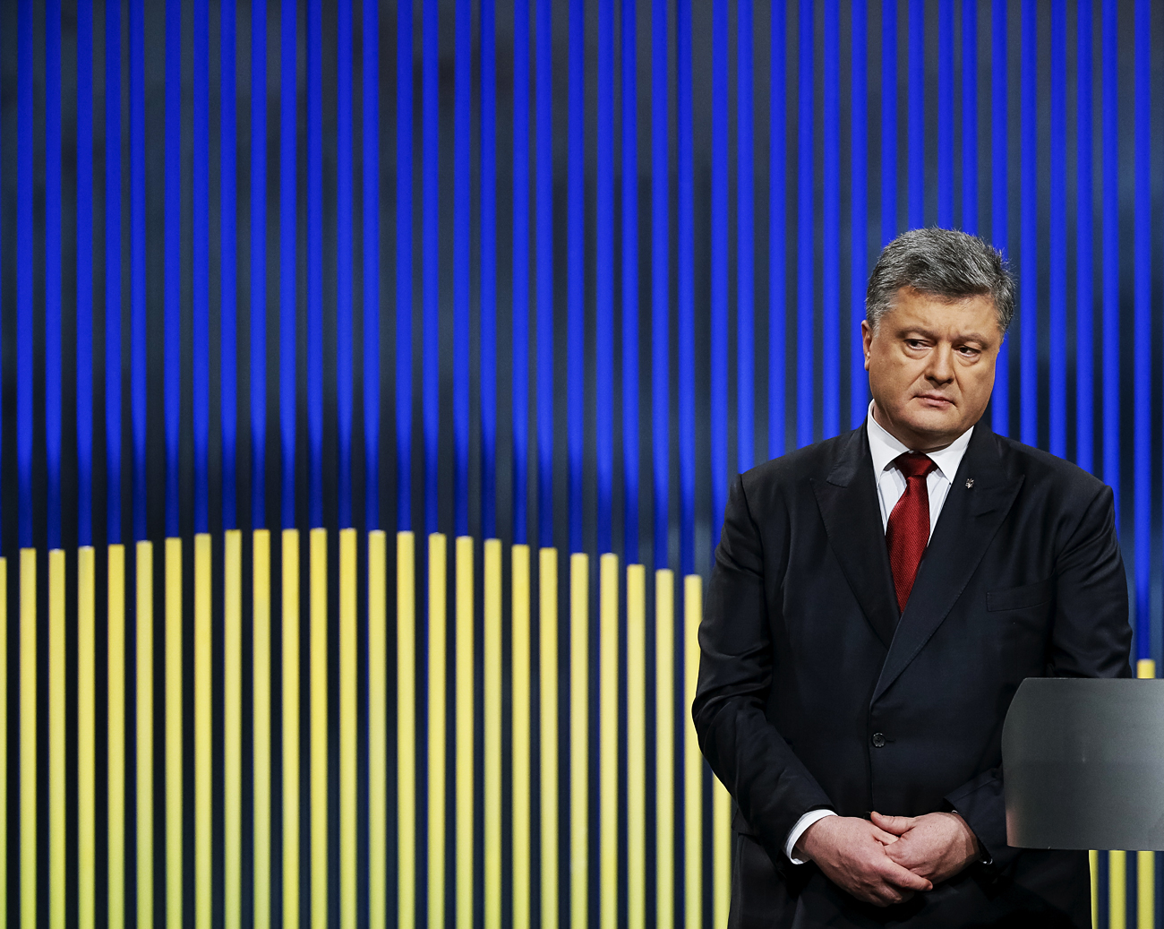 Now most Ukrainian officials are tight-lipped, while others are scrambling to retract recent remarks criticizing the U.S. president-elect. Photo: Ukrainian President Petro Poroshenko attends a news conference in Kiev, Ukraine, on Jan. 14, 2016.