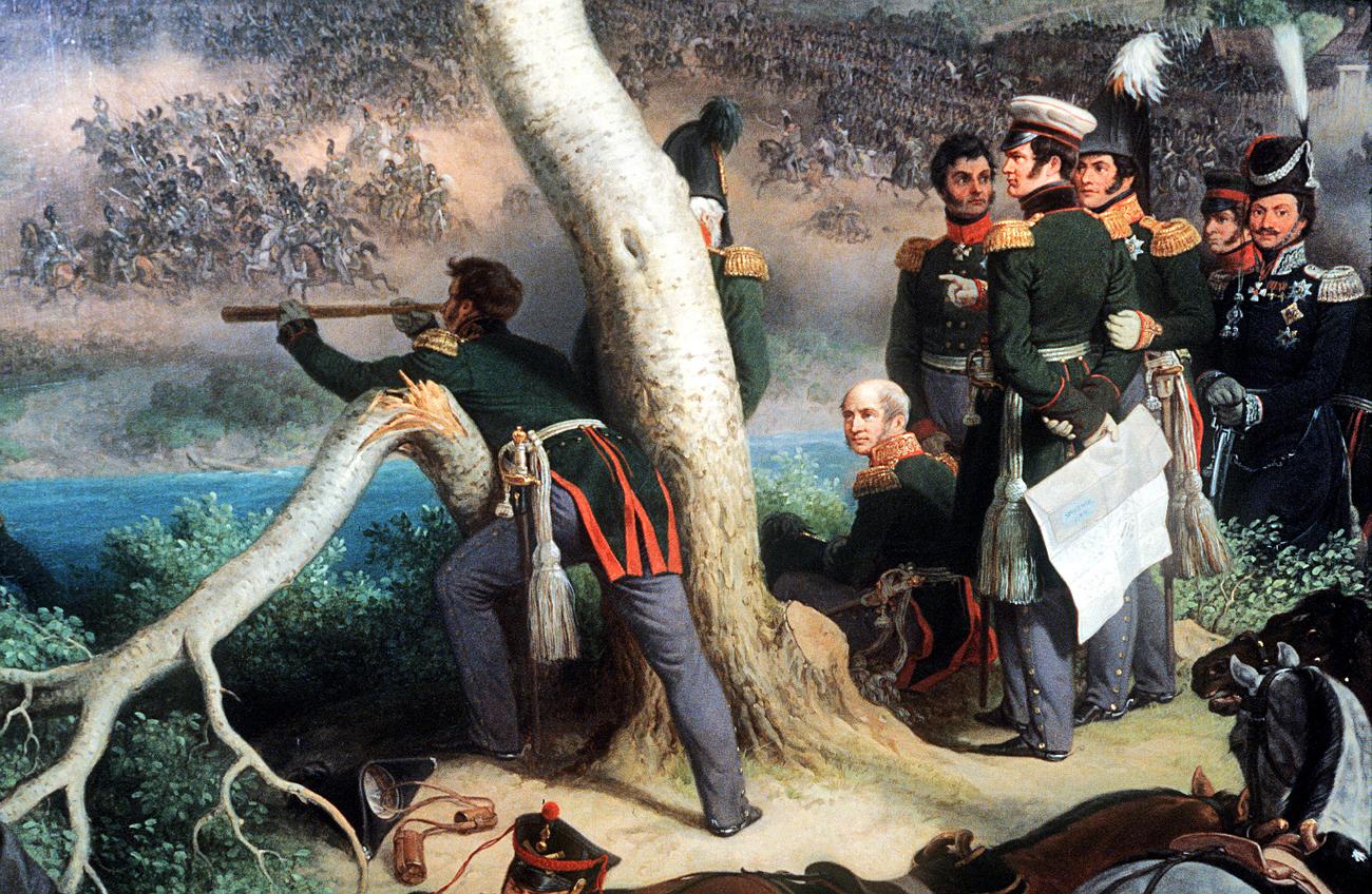 """Peter von Hess (1792-1871). """"La battaglia di Smolensk del 17 agosto 1812"""", olio su tela, 1846. Fonte: museo Ermitage di San Pietroburgo."""