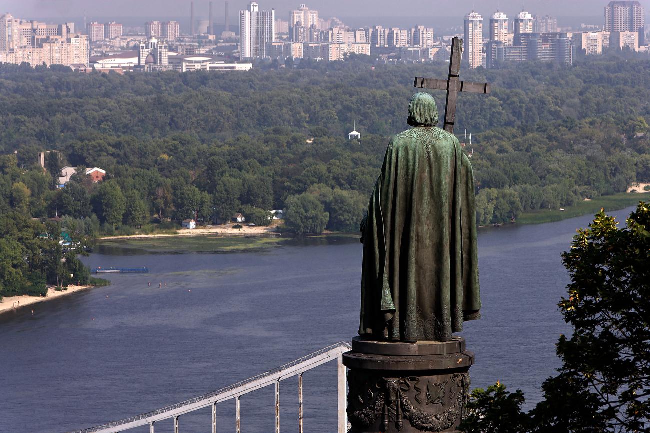 Il monumento al principe Vladimir a Kiev, in Ucraina. Fonte: Alamy / Legion-Media
