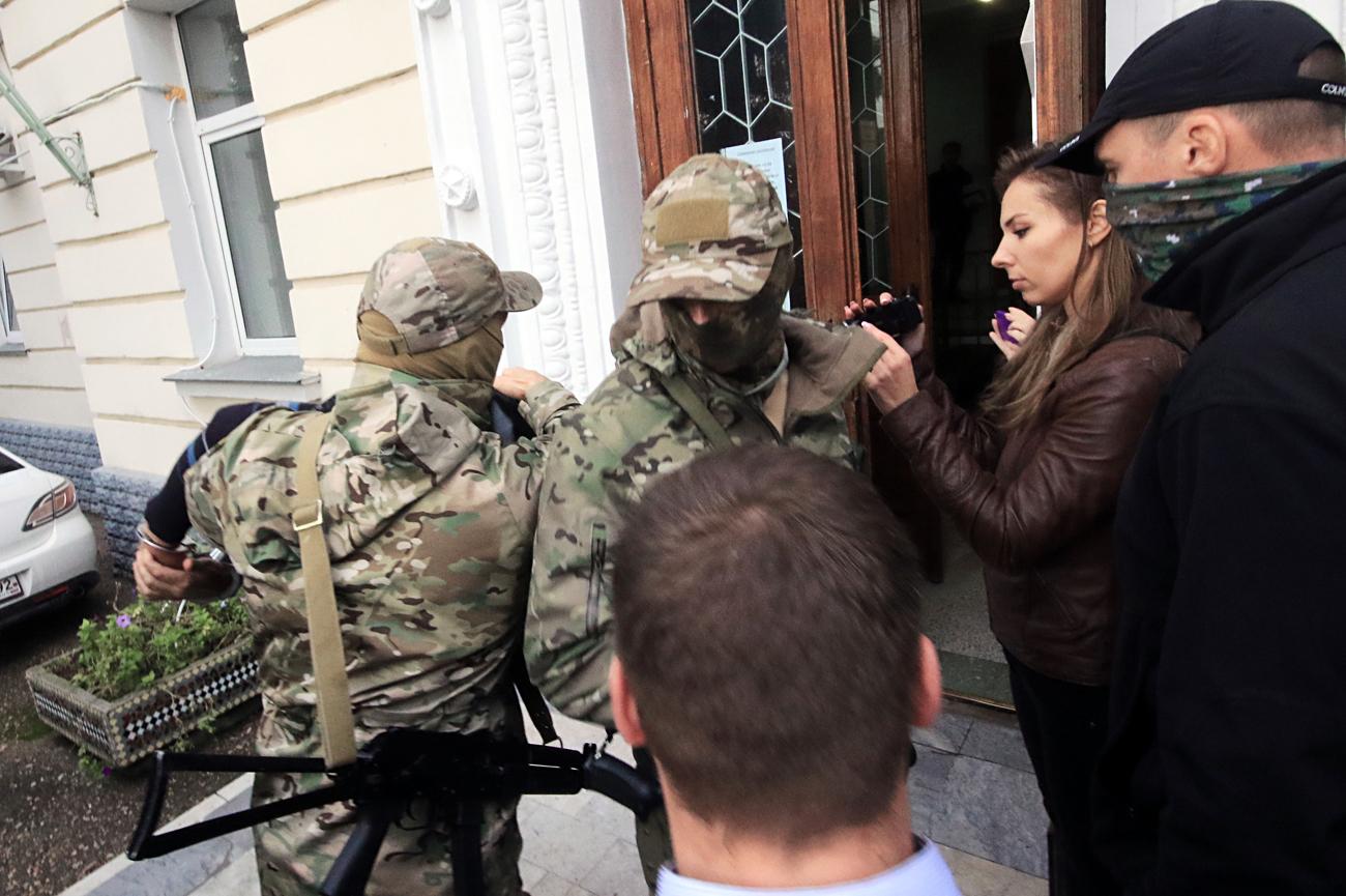 El FSB detuvo a tres saboteadores.