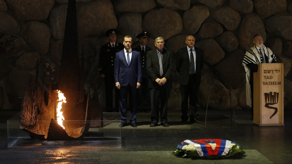 Dmitry Medvedev arrived in the city of Jericho on Nov. 11 for talks with Mahmoud  Abbas.