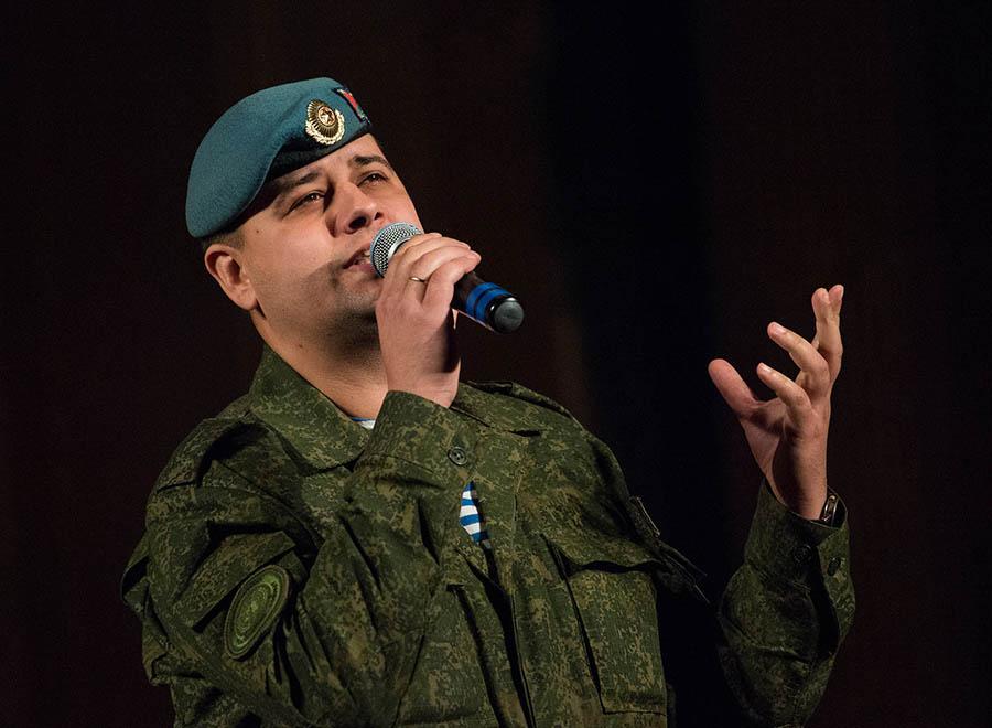 Russian Airborne Troops performed in Belgrade.