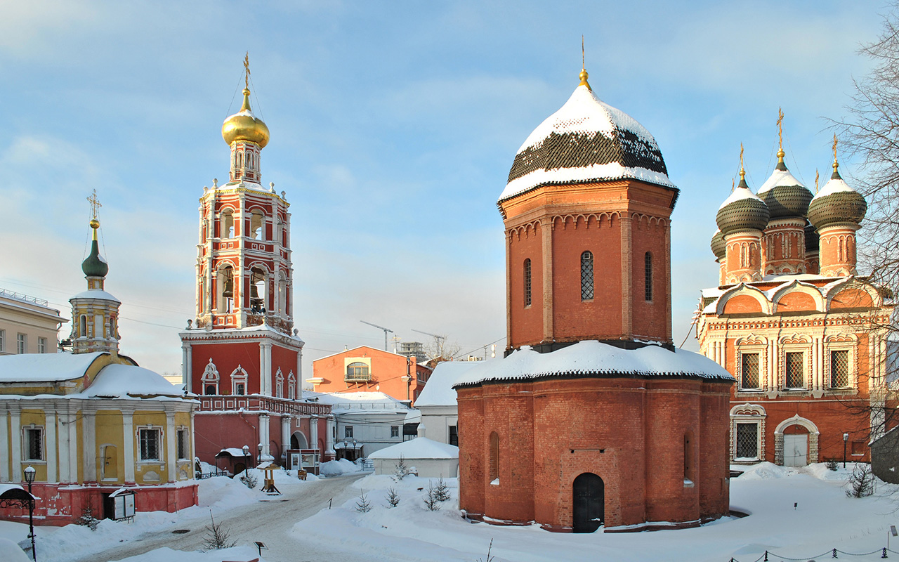 Vysokopetrovsky Monastery is the closest to Red Square (1,2 mile). It is situated on Petrovka Street in Moscow and was most likely established by Saint Peter in 1315.
