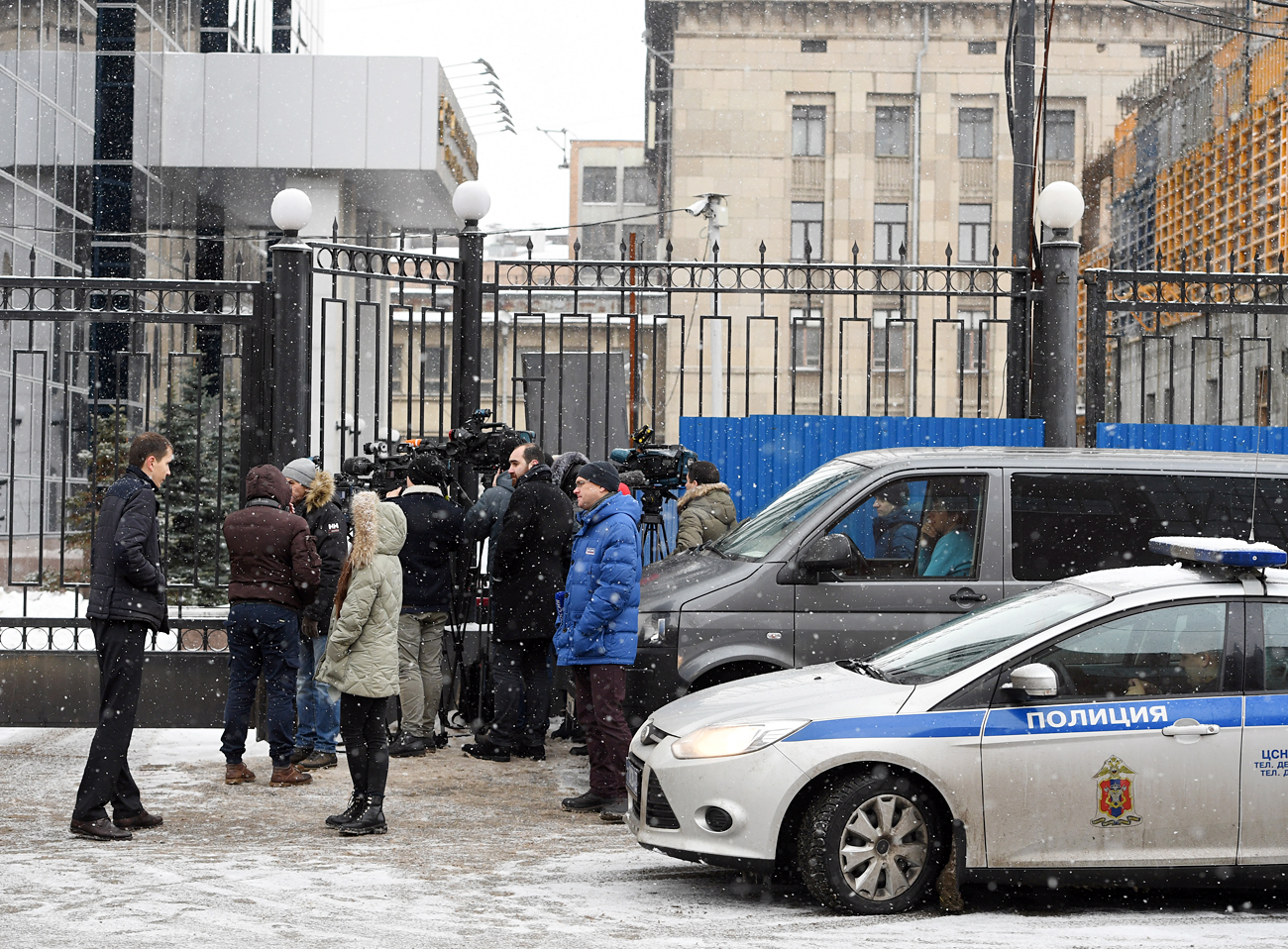 Situation near Russian Investigative Committee and Ministry of Economic Development after Alexei Ulyukayev's arrest.