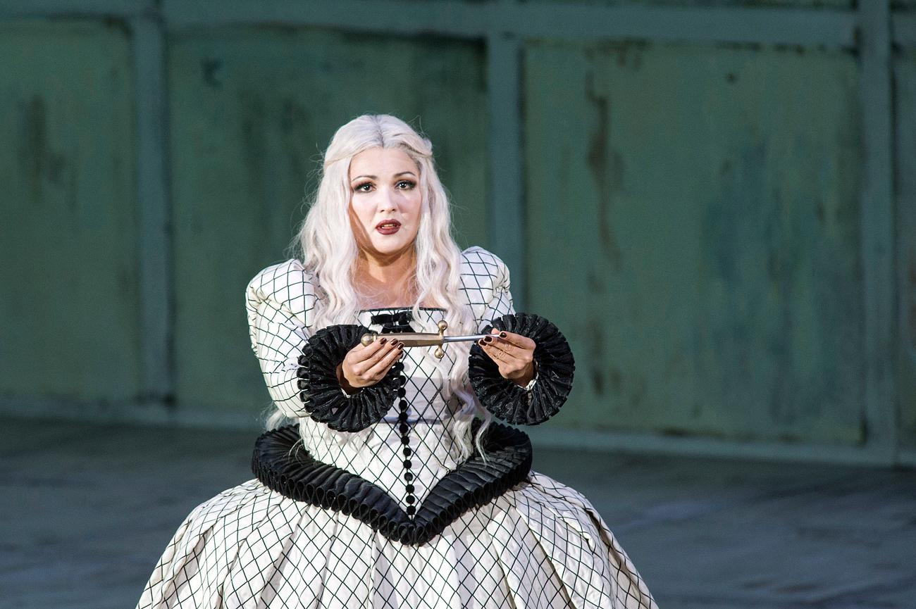 Anna Netrebk durante un'esibizione a Berlino. Fonte: Getty Images